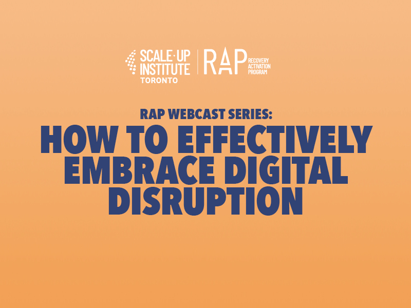RAP Webcast Series: How to Effectively Embrace Digital Disruption Image